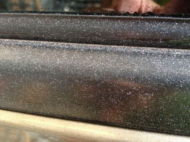 rubber trim molding overspray