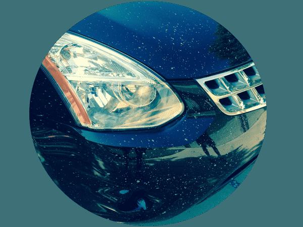 enamel road paint overspray